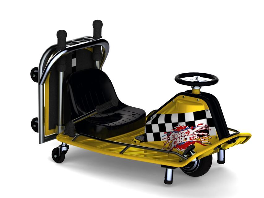 Razor Crazy Cart Taxi 3d Cad Model Library Grabcad