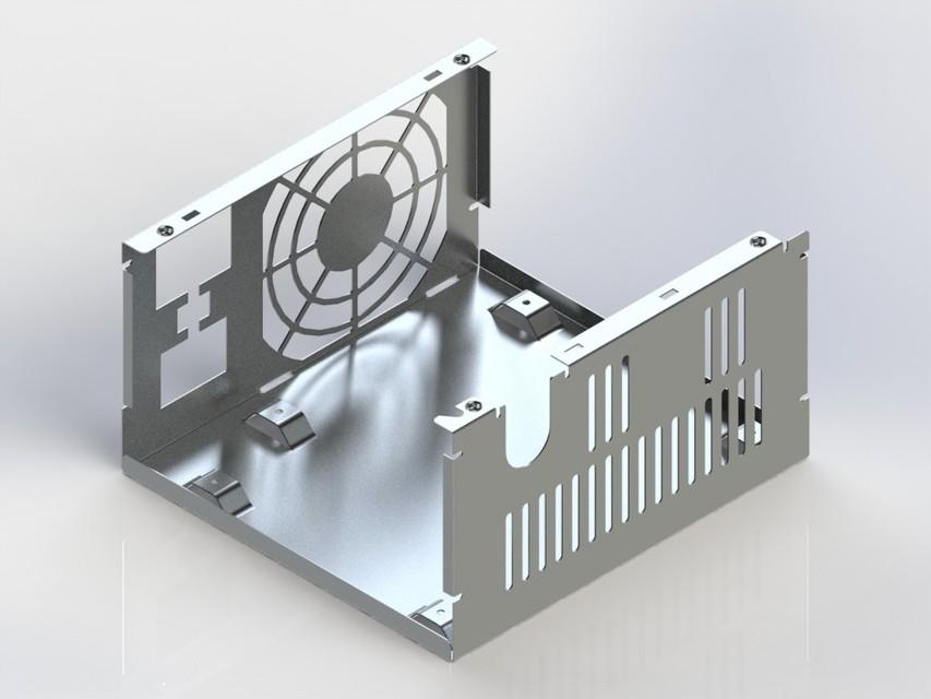 Fonte de computador chapa met lica step iges - Chapa metalica perforada ...