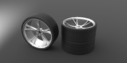 Low Profile Tyre N Alloy 3