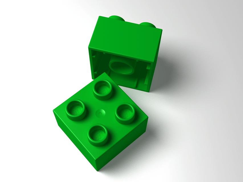 Lego duplo brick 2x2 step iges 3d cad model grabcad for Modele maison lego duplo