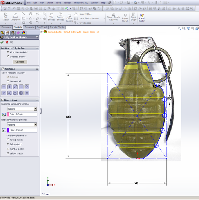 Tutorial - Tip - fully defining sketches in SolidWorks (splines