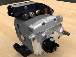 Velocette Venom Thruxton Gearbox/Clutch assembly