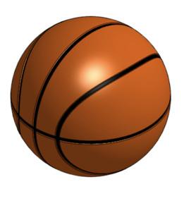 Basketball 1:1 Scale 9.5 inch diameter