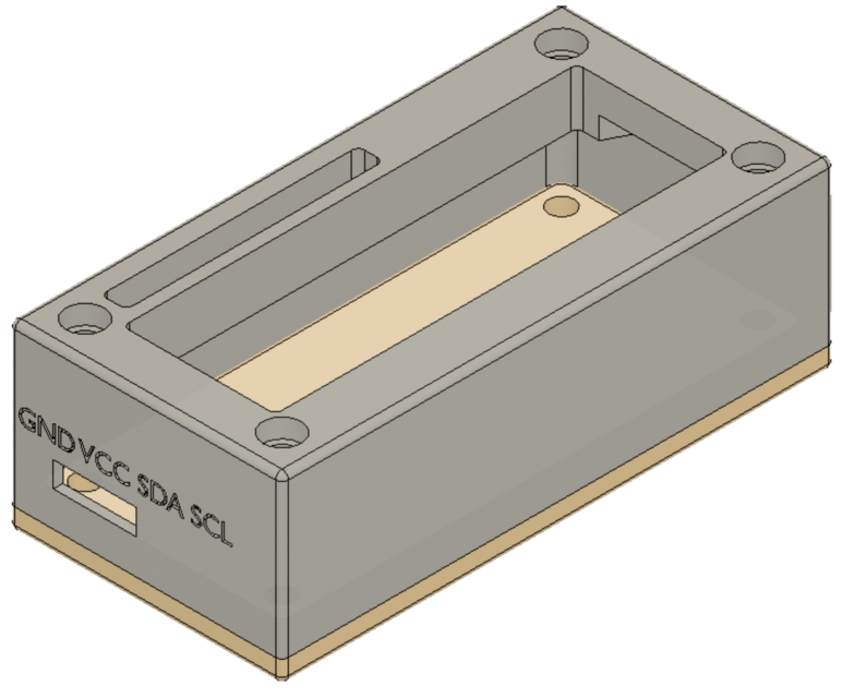 Arduino I2C LCD Module Enclosure [3D Printable] | 3D CAD