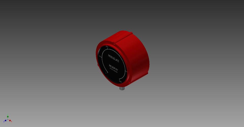 pressure gauge murphy switchgauge 45ape 5000 psi panel mount rh grabcad com