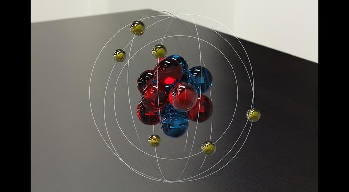 Medium on Neon Element Bohr Model