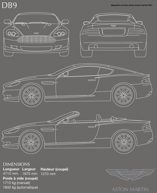 Aston martin and 3new car blueprint 3d cad model library grabcad malvernweather Gallery