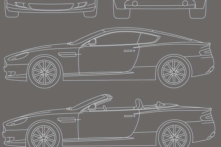 Download Aston Martin And 3new Car Blueprint Stl And Cad