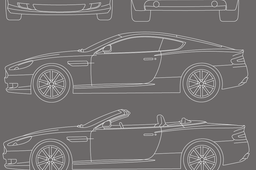 Aston martin and 3new car Blueprint