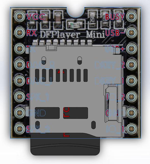 DFPlayer Mini | 3D CAD Model Library | GrabCAD
