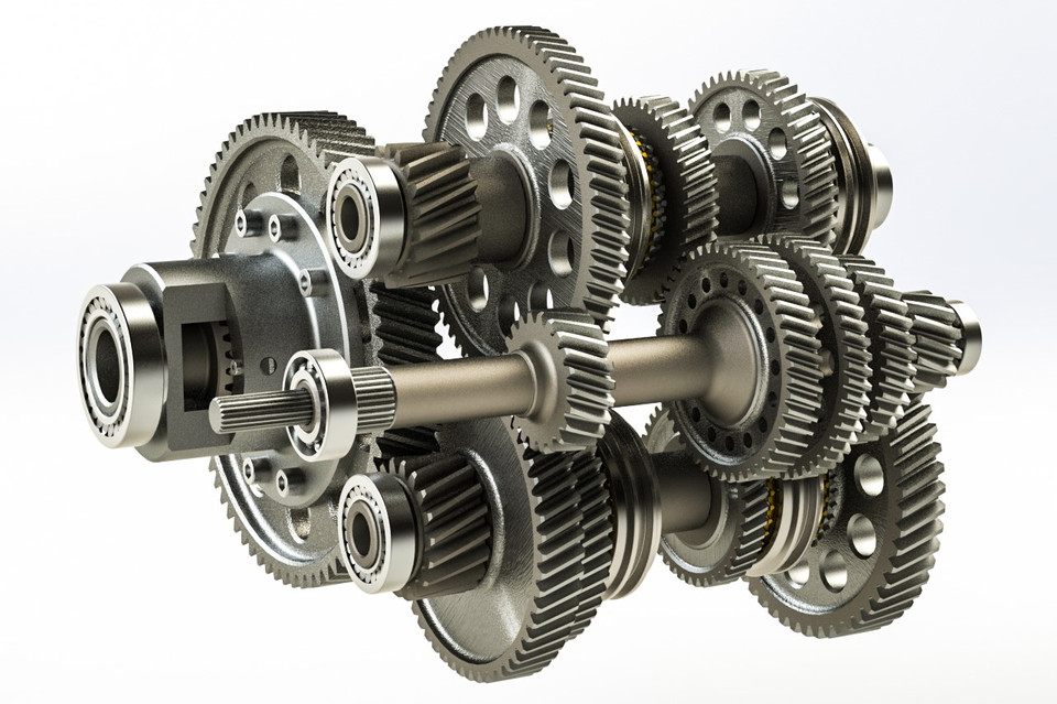 Dual Clutch Transmission , Gearbox , Transmission , Clutch , Gear , Shaft |  3D CAD Model Library | GrabCAD