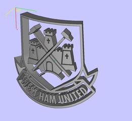 west ham curved badge