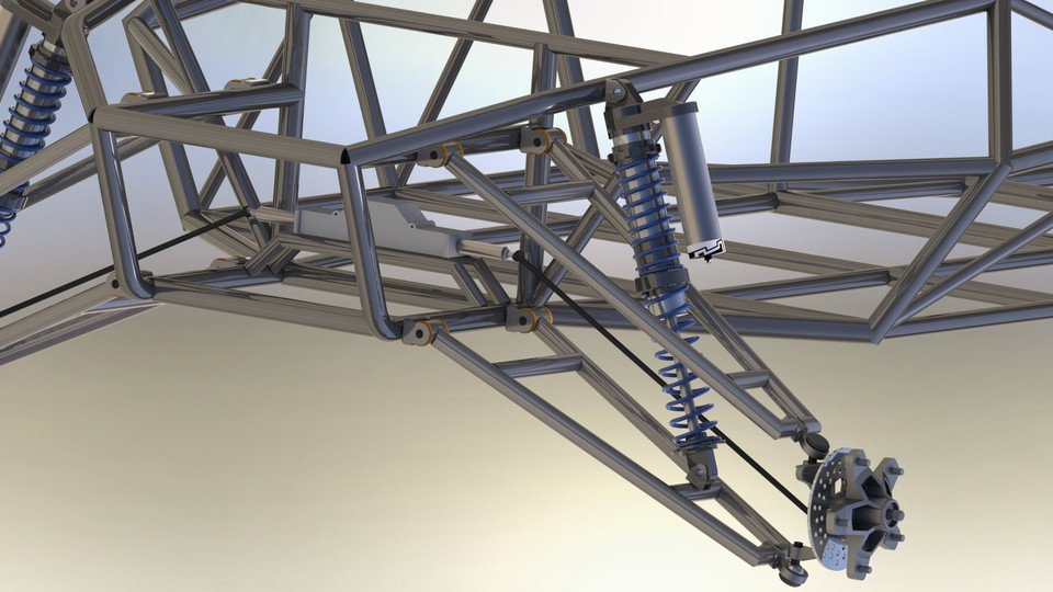 Off road buggy front suspension | 3D CAD Model Library | GrabCAD