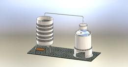 Alcohol distiller for home