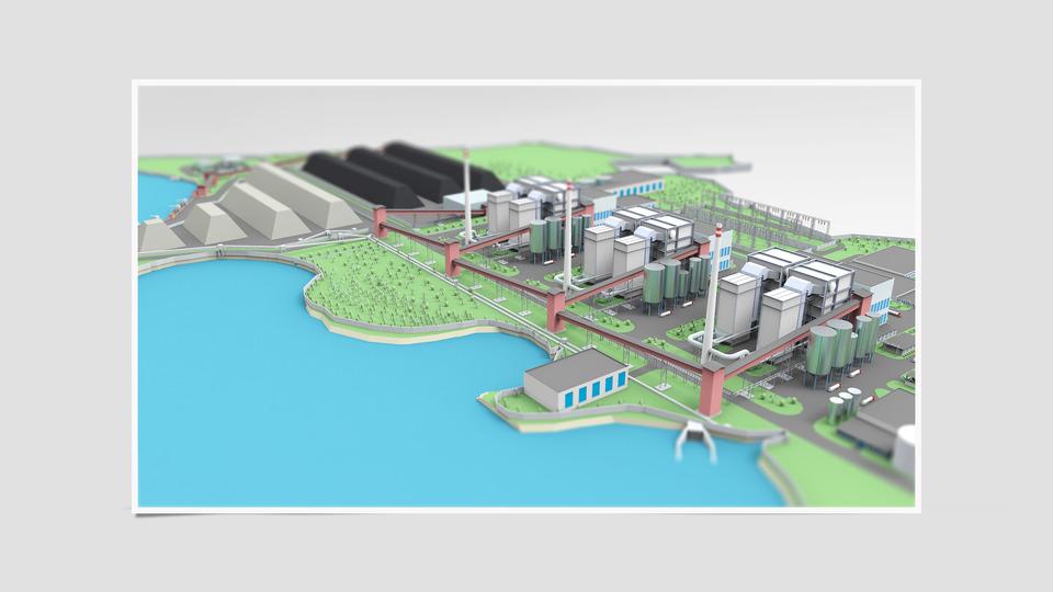 6x110 Mw Coal Power Plant 3d Cad Model Grabcad