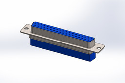 D_sub 37pin, Crimp - SOLIDWORKS\STEP