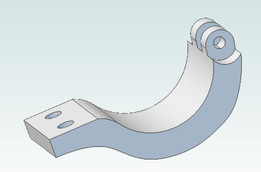Hinged Garmin Virb Clamp 31.7mm