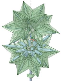 Ten Tetrahedra Tree Topper