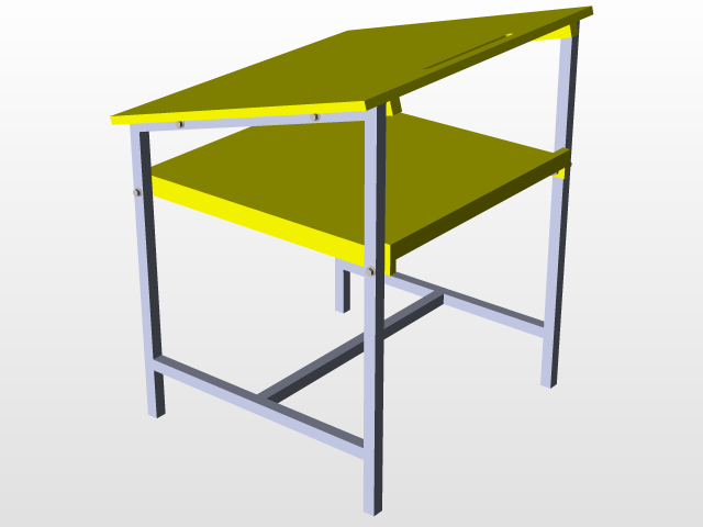 Drawing Table 3d Cad Model Library Grabcad