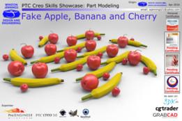 PTC Creo Skills Showcase: Fake Apple, Banana and Cherry
