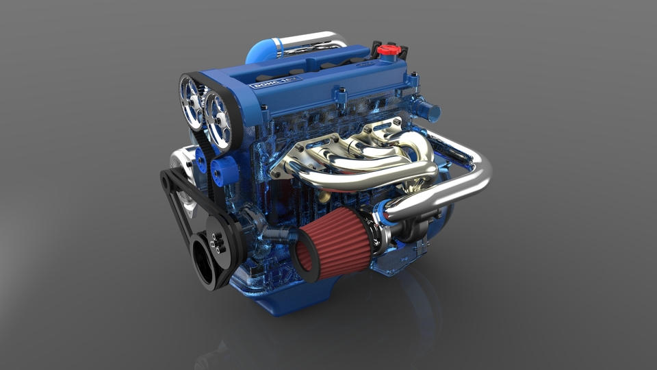 Ford Zetec engine | 3D CAD Model Library | GrabCAD