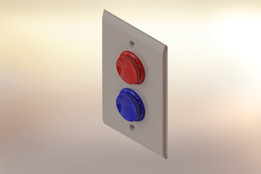 Arcade Style Button Light Switch Plate