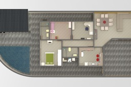 Furnished 3D House