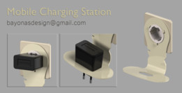 Mobile phone wall charging station