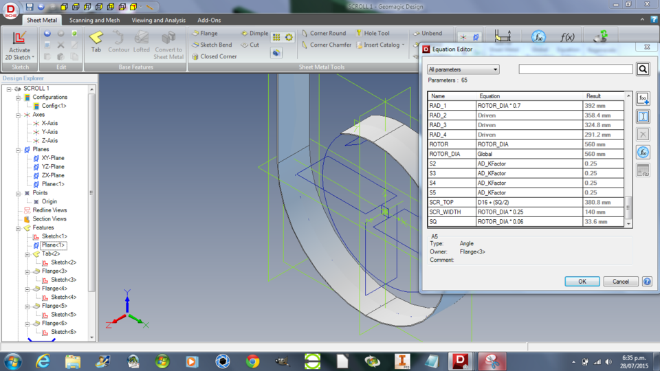 Global Parameter Driven Design Geomagic Design | 3D CAD