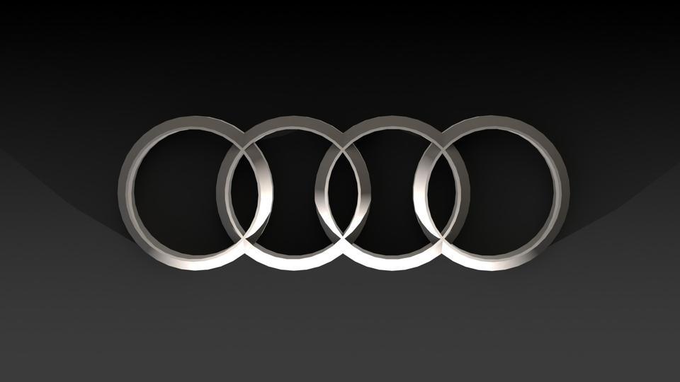 AUDI LOGO STEP IGESSOLIDWORKSCATIA D CAD Model GrabCAD - Audi logo