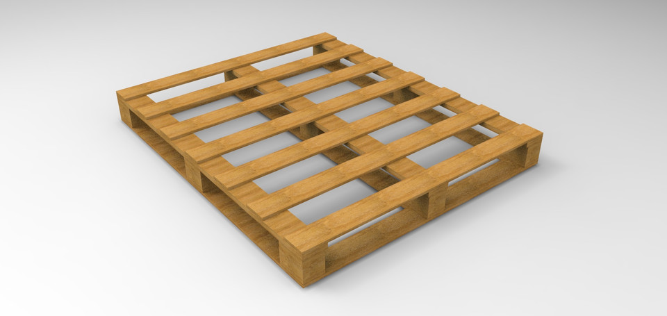 Conventional wooden pallet | 3D CAD Model Library | GrabCAD
