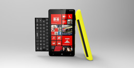 Nokia Lumia 820 - Back cover with built in qwerty keyboard