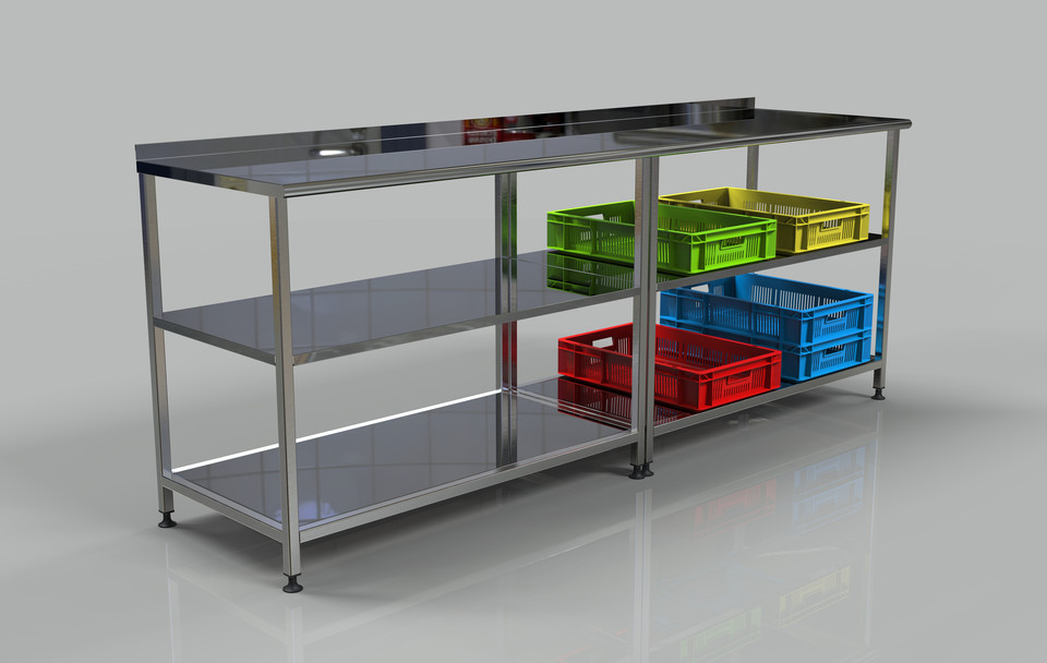 Kitchen working table | 3D CAD Model Library | GrabCAD