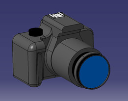 Canon Rebel T3i Dimensional Reference Model