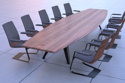 conferencing table and cairs