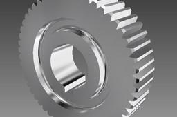Spur Gear // Roda dentada m=1.5 z=52