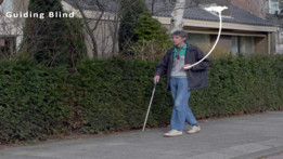 Helping hand - Accessory for drone to help blind people
