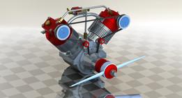 20cc four stroke RC engine