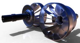 roda dágua turbina francis