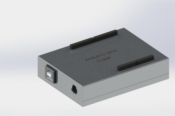 Arduino uno aliuminium case other d cad model grabcad