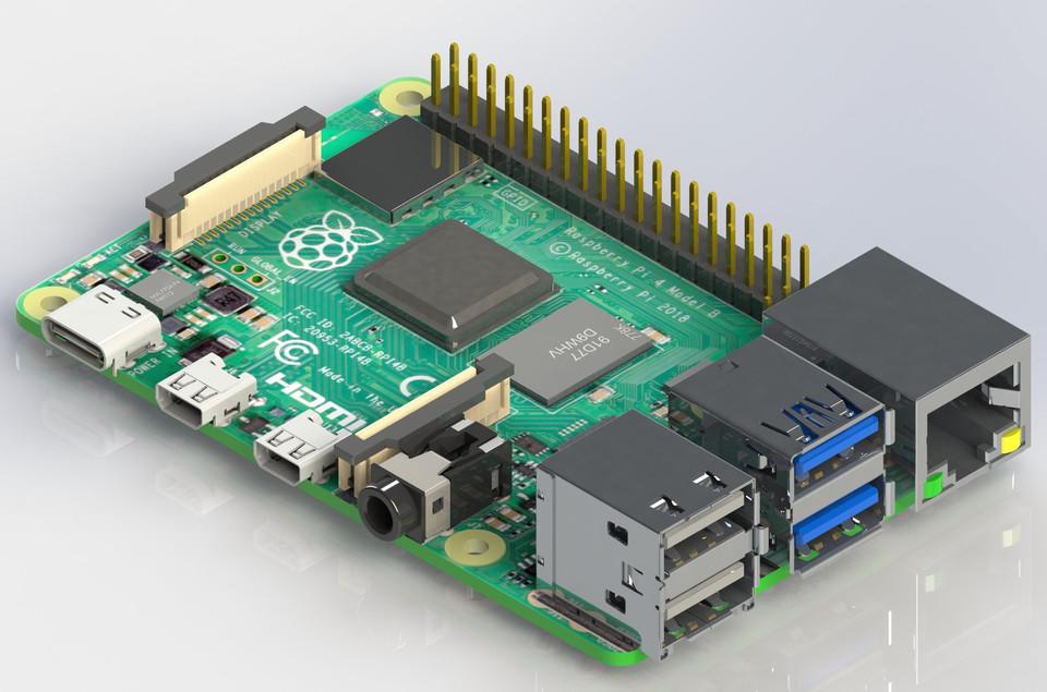 Raspberry Pi 4 Model B | 3D CAD Model Library | GrabCAD