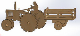 Tractor Acrilico