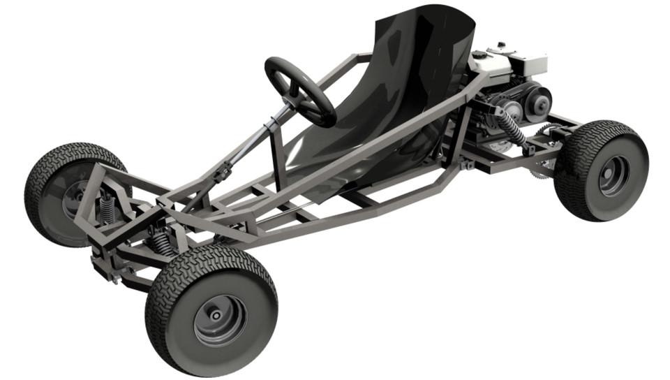 Go Kart Arachnid 3d Cad Model Library Grabcad