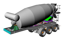 concrete mixer drum semi trailer
