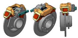 The left brake caliper Vaz 2121 / Левый тормозной суппорт Ваз 2121