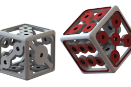 "1"" Hollow Dice for 3d print challenge (2 versions)"