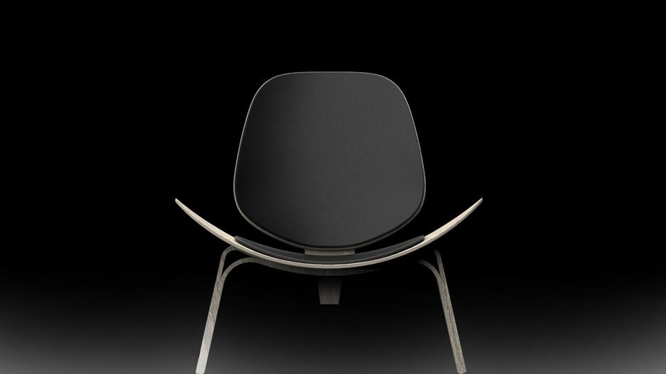 Shell chair by Hans Wegner   3D CAD Model Library   GrabCAD
