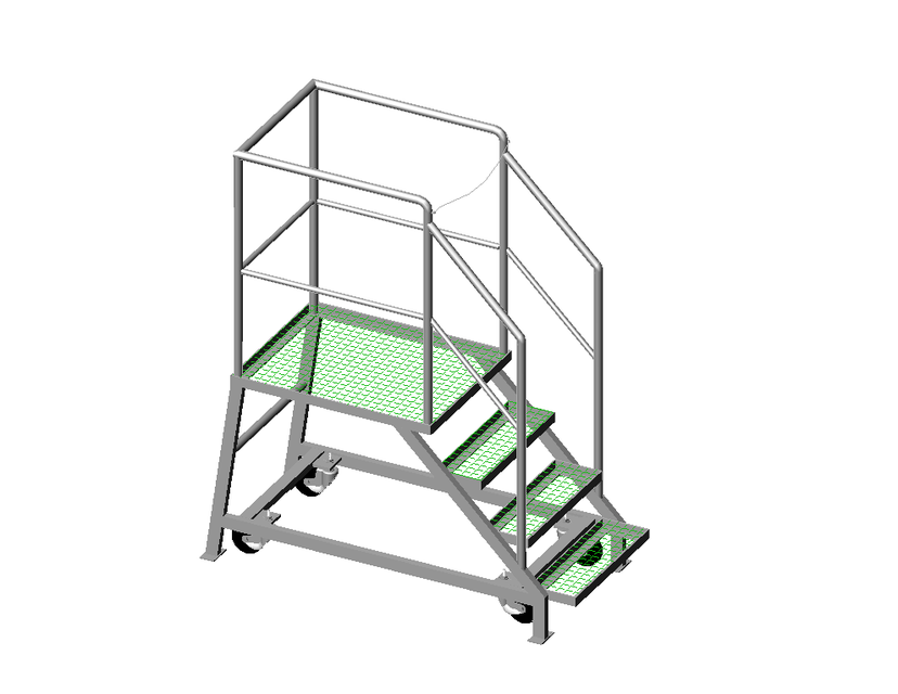 STAIR LADDER MOBILE / ESCALERA MOVIL   AutoCAD   3D CAD Model   GrabCAD