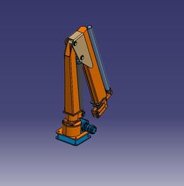 Marine Crane folded
