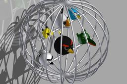 Angry Birds Cage - All complements to  Pranav Panchal for these wicked models.